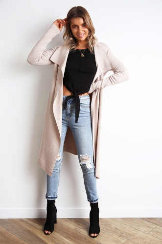 Slow Dance Cardigan - Beige