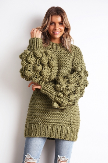 Almost Home Jumper - Olive