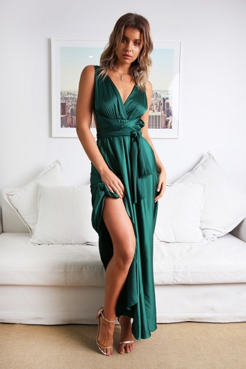 Sophie Wrap Dress - Green