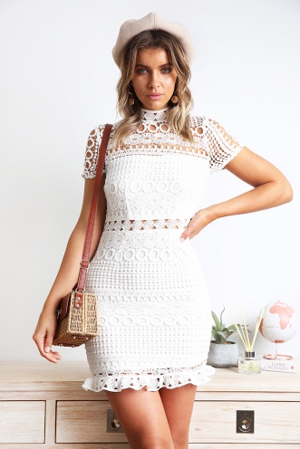 Meyer Lemon Bars Dress - White