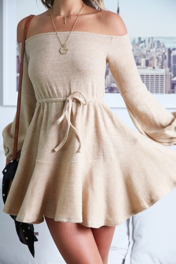 Monisha Dress - Beige