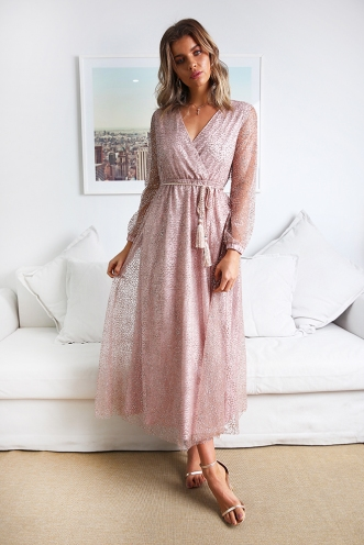 To Be Me Dress - Rose Gold