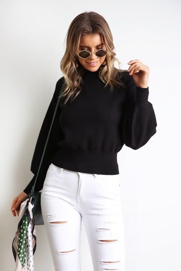 Best For You Jumper - Black