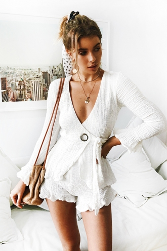 Raffy Playsuit - White