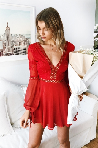 Made With Love Dress - Red