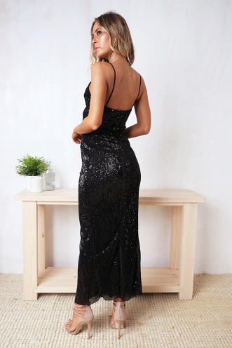 Elisha Dress - Black Sequin