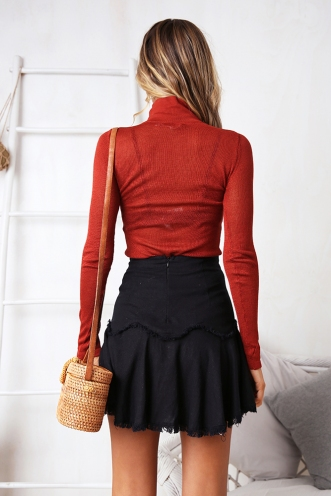 Amy Knit Top - Terracotta