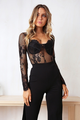 Dream Chaser Bodysuit - Black