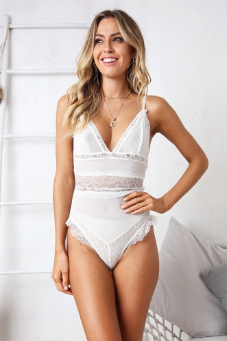Full Moon Bodysuit - White