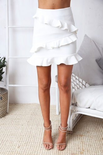 With You Skirt - White