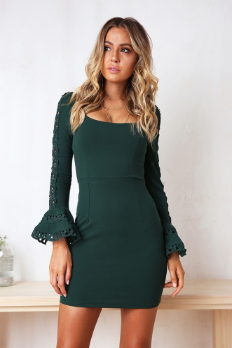 Leisha Dress - Green