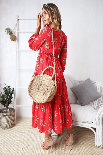 Daria Dress- Red Print
