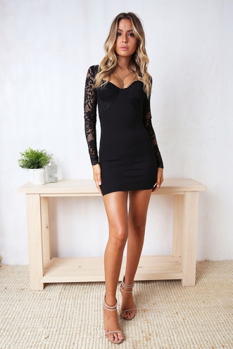 Call Me Back Dress - Black