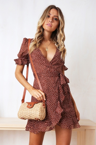 Melissa Dress - Brown Spot