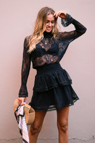 Waldorf Skirt - Black Lace