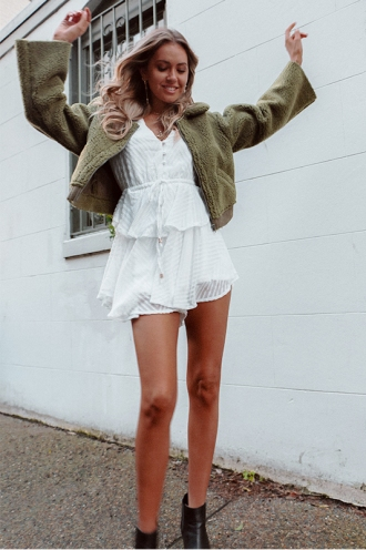 Love Lost Playsuit - White