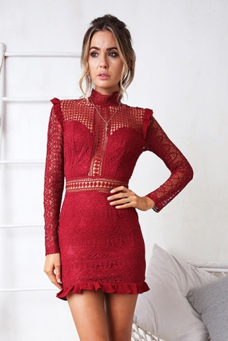 Move On Over Dress - Maroon