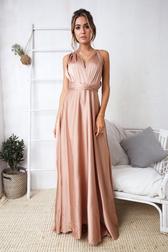 Sophie Wrap Dress - Nude