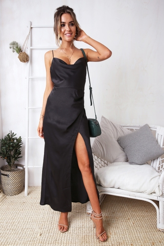 Freychel Dress - Charcoal Grey