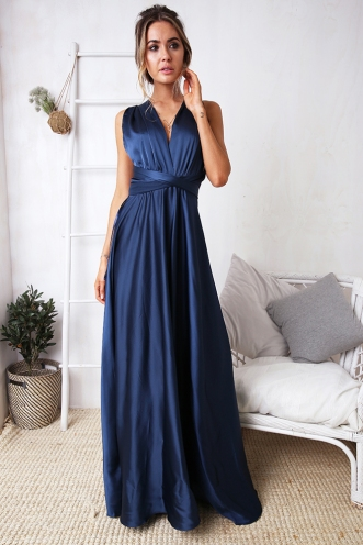Sophie Wrap Dress - Navy