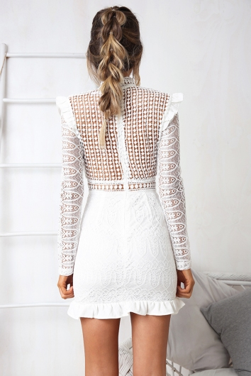 Move On Over Dress - White