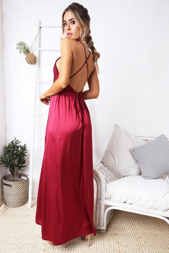 Lara evening dress - Maroon