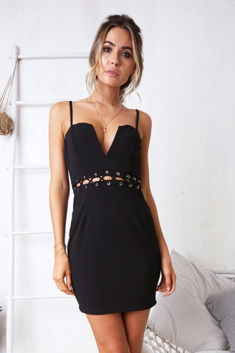 Layer Cake Dress - Black