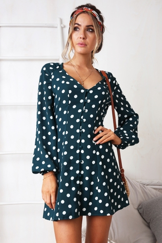 Karolyn Dress - Green Spot