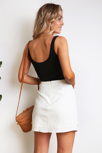 By The Road Skirt - White
