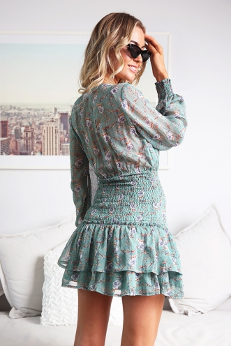 Kahlie Dress - Green Print