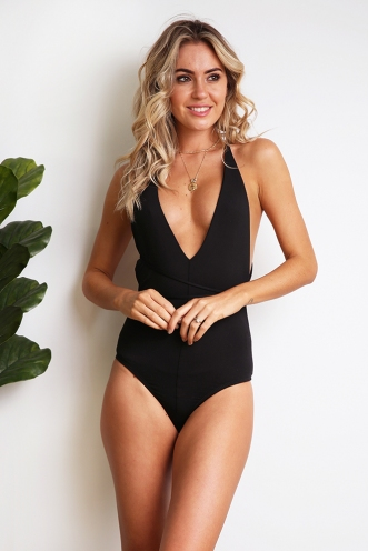 More Than Friends Bodysuit - Black