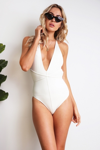 More Than Friends Bodysuit - White