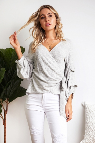 Anne-Marie Top - Grey