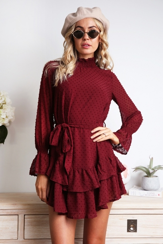 Karolyn Dress - Maroon