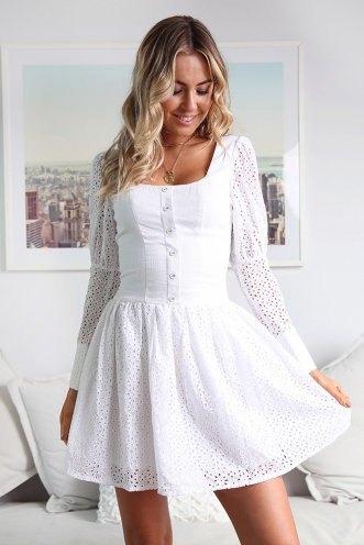 No Tears Dress - White