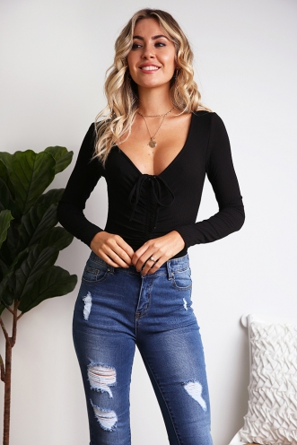 Farah Bodysuit - Black