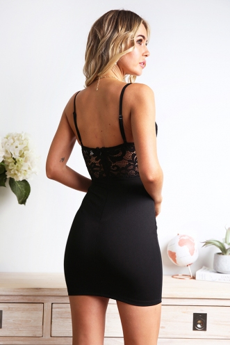 In The Name Of Love Dress - Black