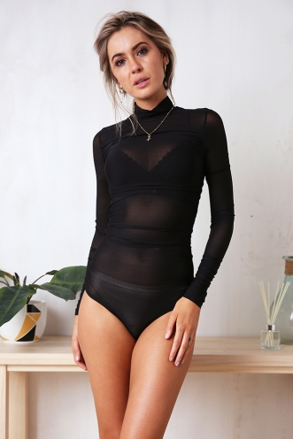 Looking At You Bodysuit - Black