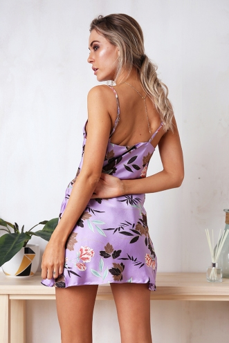 Tune It Up Dress - Lilac Print