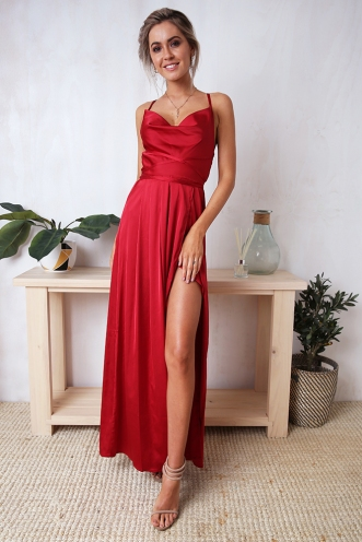 Visualise It Dress - Deep Red