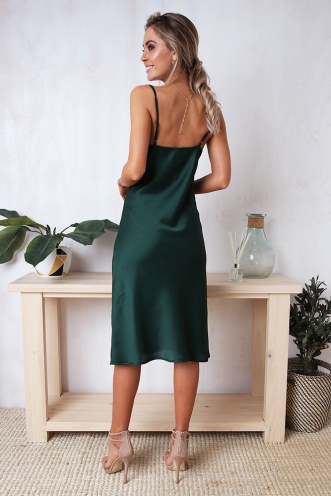 Claws Out Dress - Forest Green
