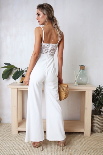Indigo Jumpsuit - White