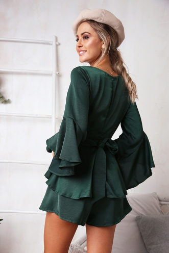 Marcela Playsuit - Forest Green
