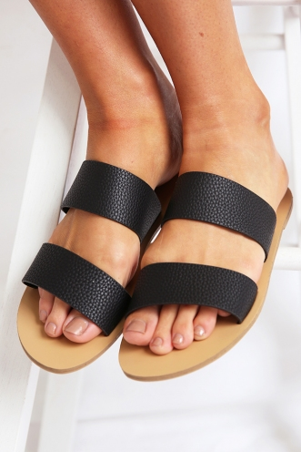 Billini - Cuban Sandal - Black Pebble
