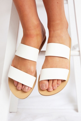 Billini - Cuban Sandal - White Pebble
