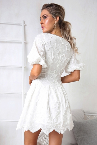 Falling Star Dress - White