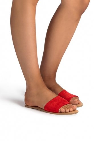 Billini - Crete Sandal - Red Suede