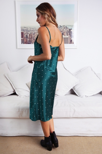 Claws Out Dress - Green Spot