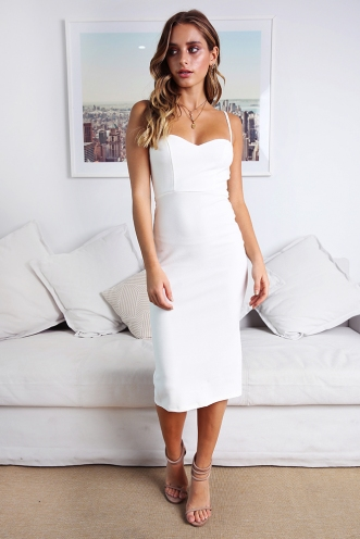 Rochelle Dress - White