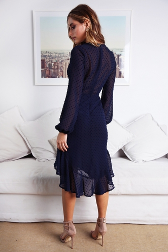 Grachelle Dress - Navy
